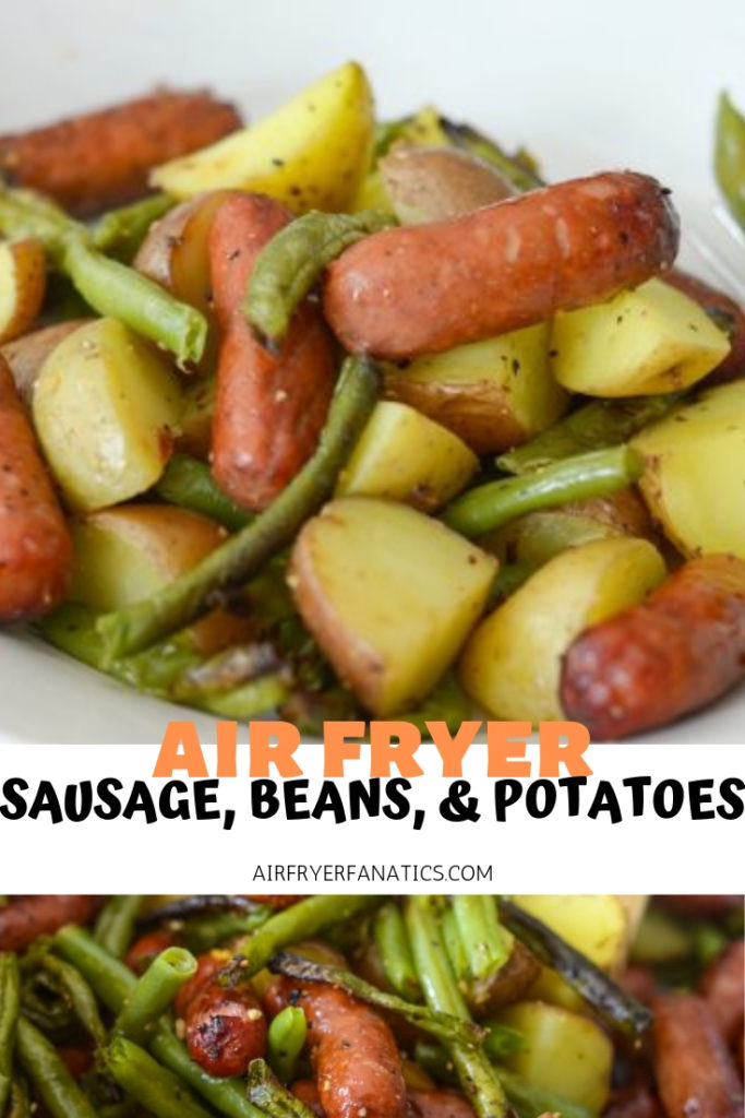 Air Fryer Sausage, Beans, and Potato Hash