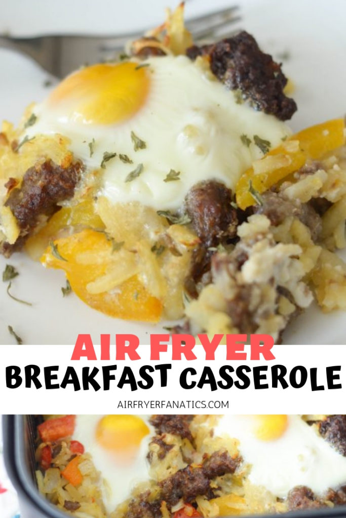 breakfast casserole in the air fryer