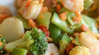 Air Fryer Shrimp and Vegetables