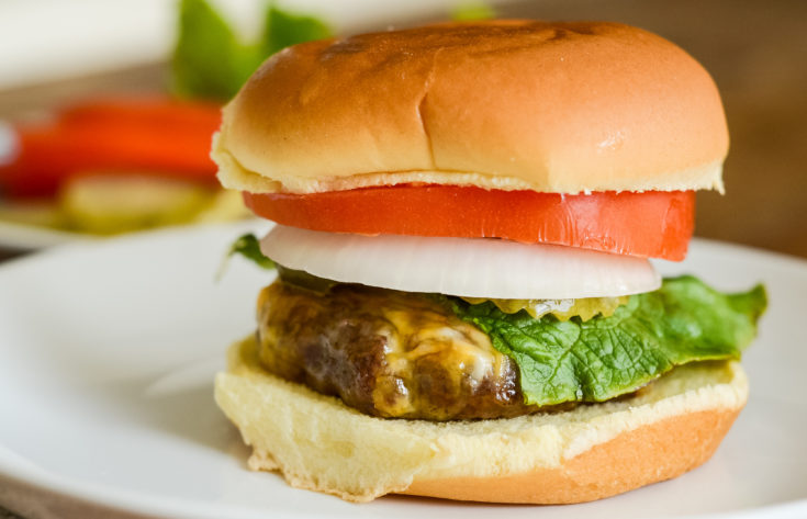 Air Fryer Cheeseburgers