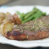 Gluten Free Air Fryer Glazed Steaks