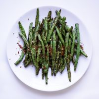 Air Fryer Green Beans | My Vegetarian Family