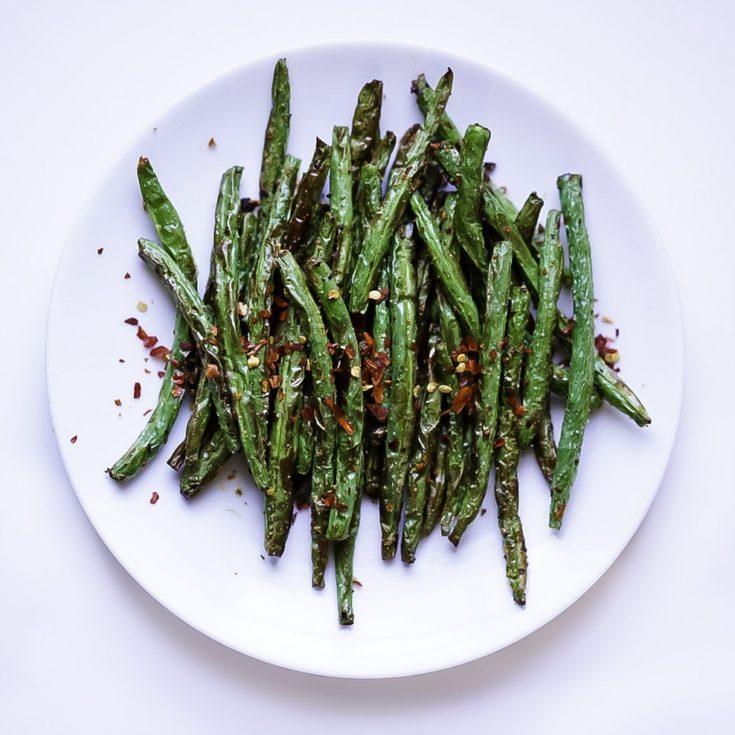 Air Fryer Green Beans | My Vegetarian Family