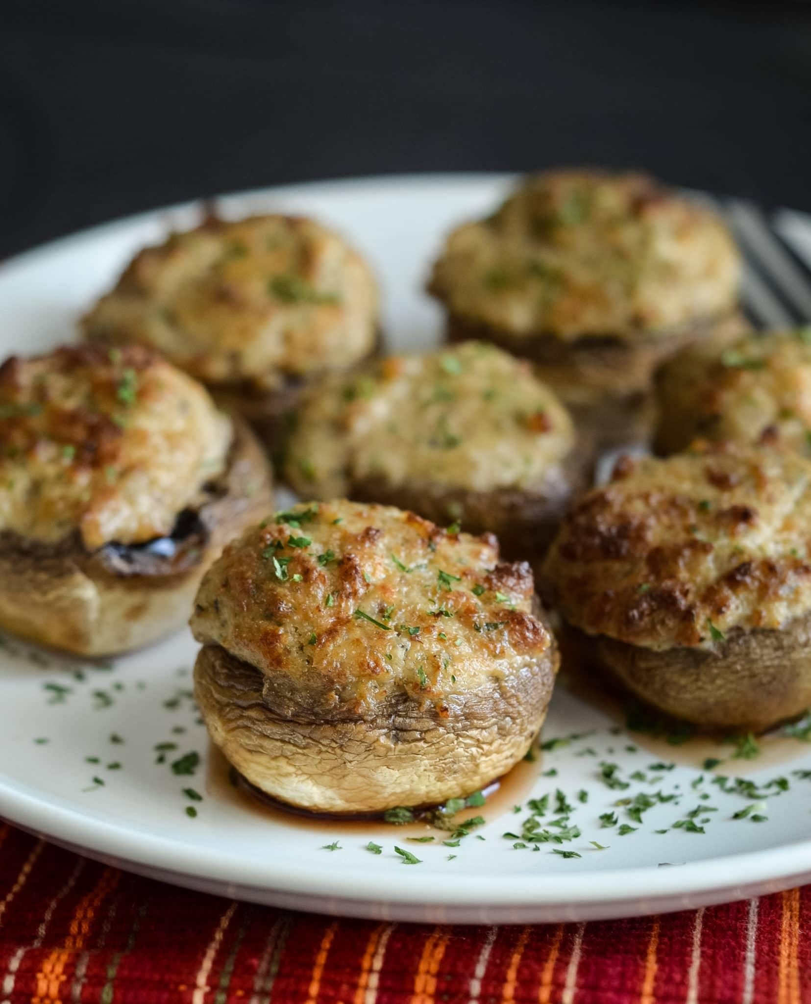 Ninja food portobello mushroom recipes Air Fryer Stuffed Mushrooms Air Fryer Fanatics