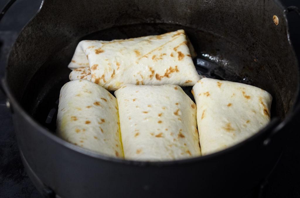 Air Fryer Beef & Bean Chimichangas