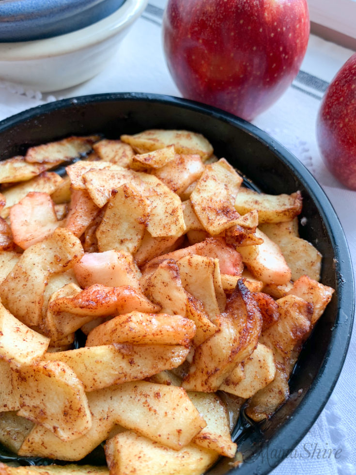 Air-Fried Spiced Apples (Gluten-free)