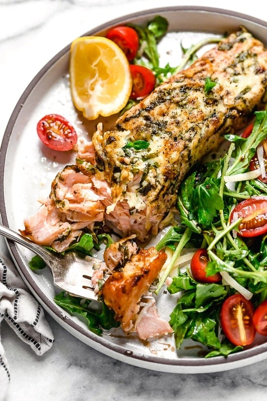 Basil-Parmesan Salmon (Air Fryer or Oven)