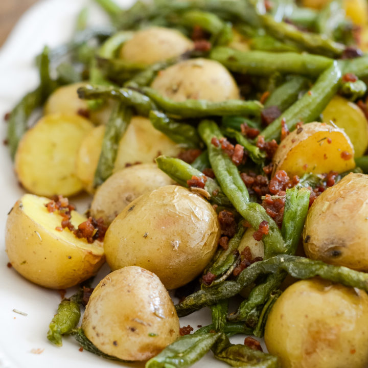 Air Fryer Green Beans and Potatoes