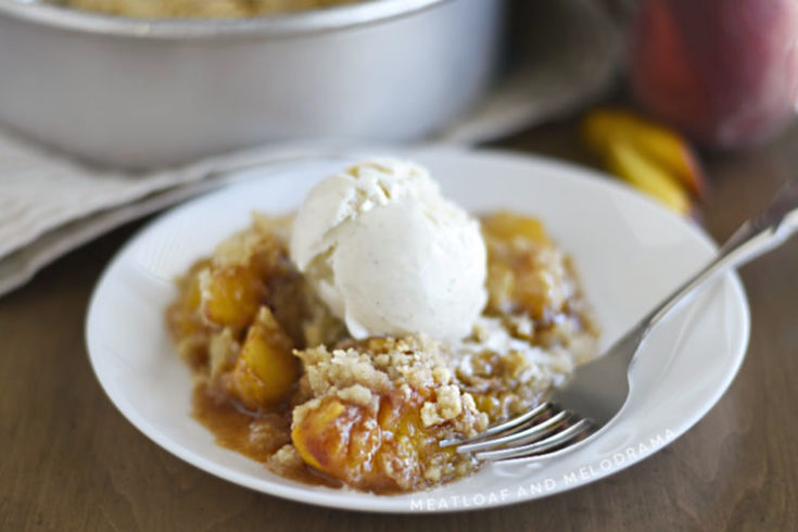 Air Fryer Peach Crisp