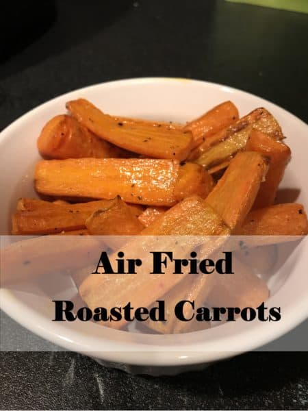 Simple Air Fried Roasted Carrots | Paleo, Vegan, Whole30