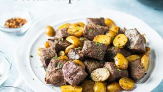 Air Fryer Steak Tips Recipe with Potatoes