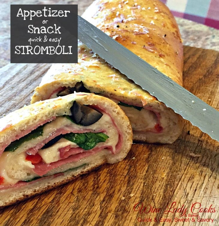 Air Fryer Stromboli Ham Cheese Spinach Appetizer