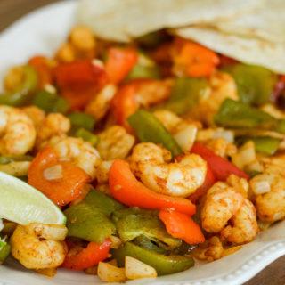 Air Fryer Shrimp Fajitas {Ninja Foodi Recipe}