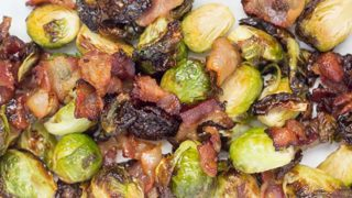 Maple Bacon Brussels Sprouts – Air Fryer