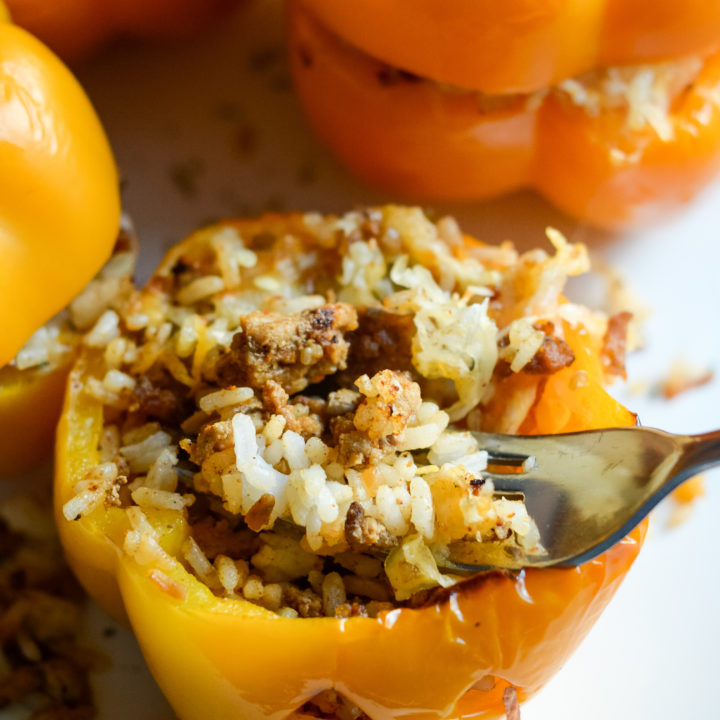 Air Fryer Stuffed Pumpkin Peppers