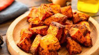 Roasted Air Fryer Sweet Potatoes