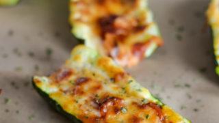 Air Fryer Zucchini Pizza Boats (Ninja Foodi)