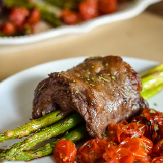 Air Fryer Steak Wrapped Asparagus