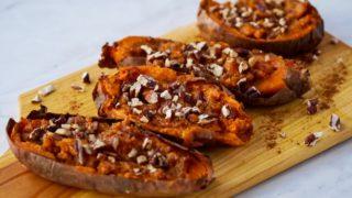 Air Fryer Twice Baked Sweet Potatoes