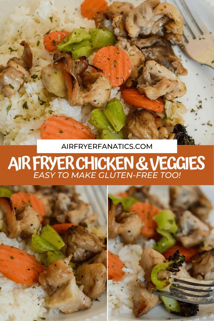 air fryer glazed chicken and vegetables