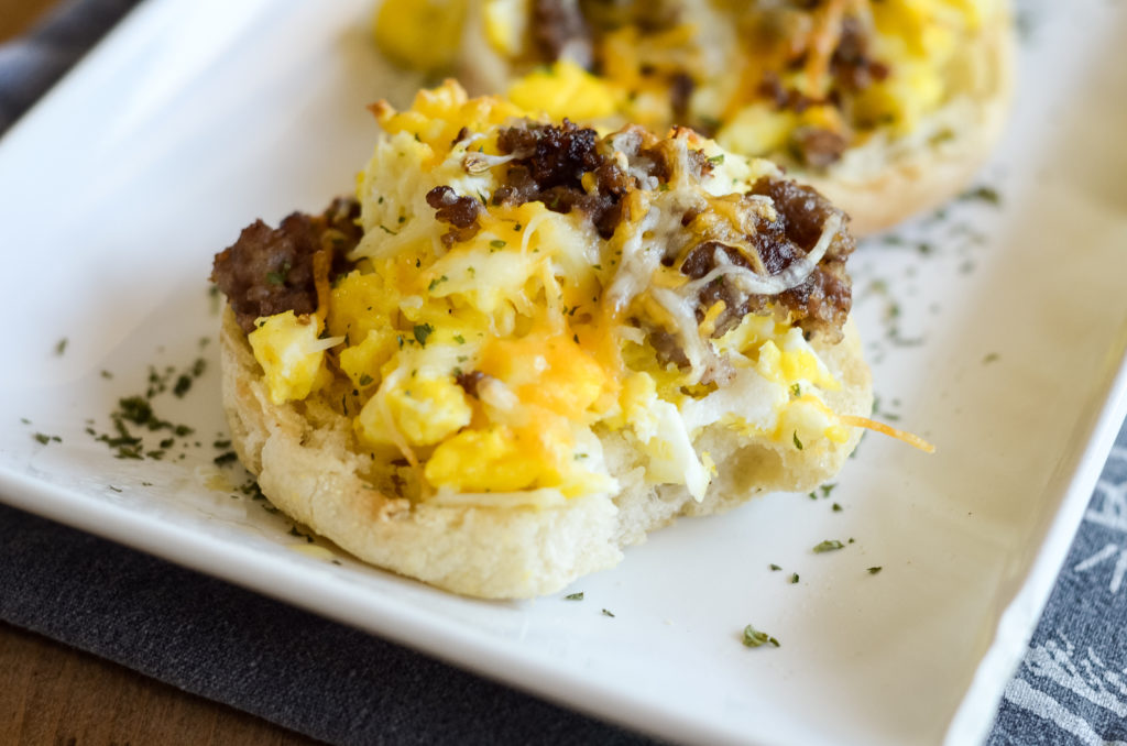 Air Fryer Breakfast Pizzas with English Muffins
