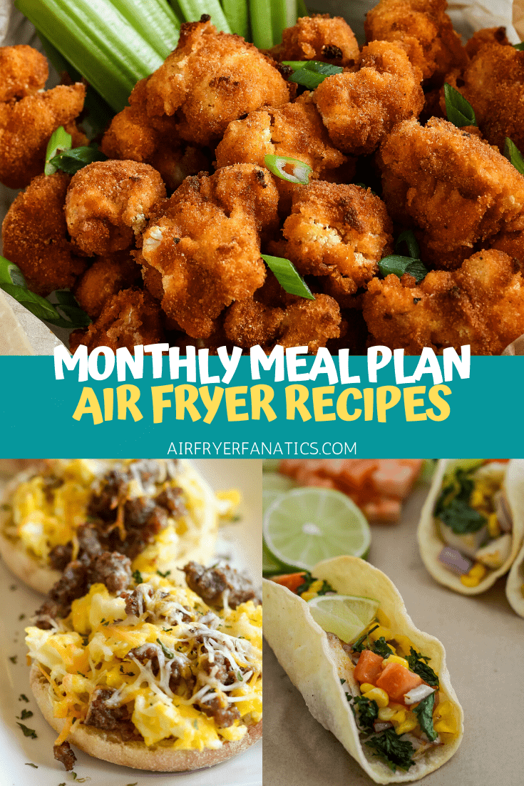 air fryer menu plan
