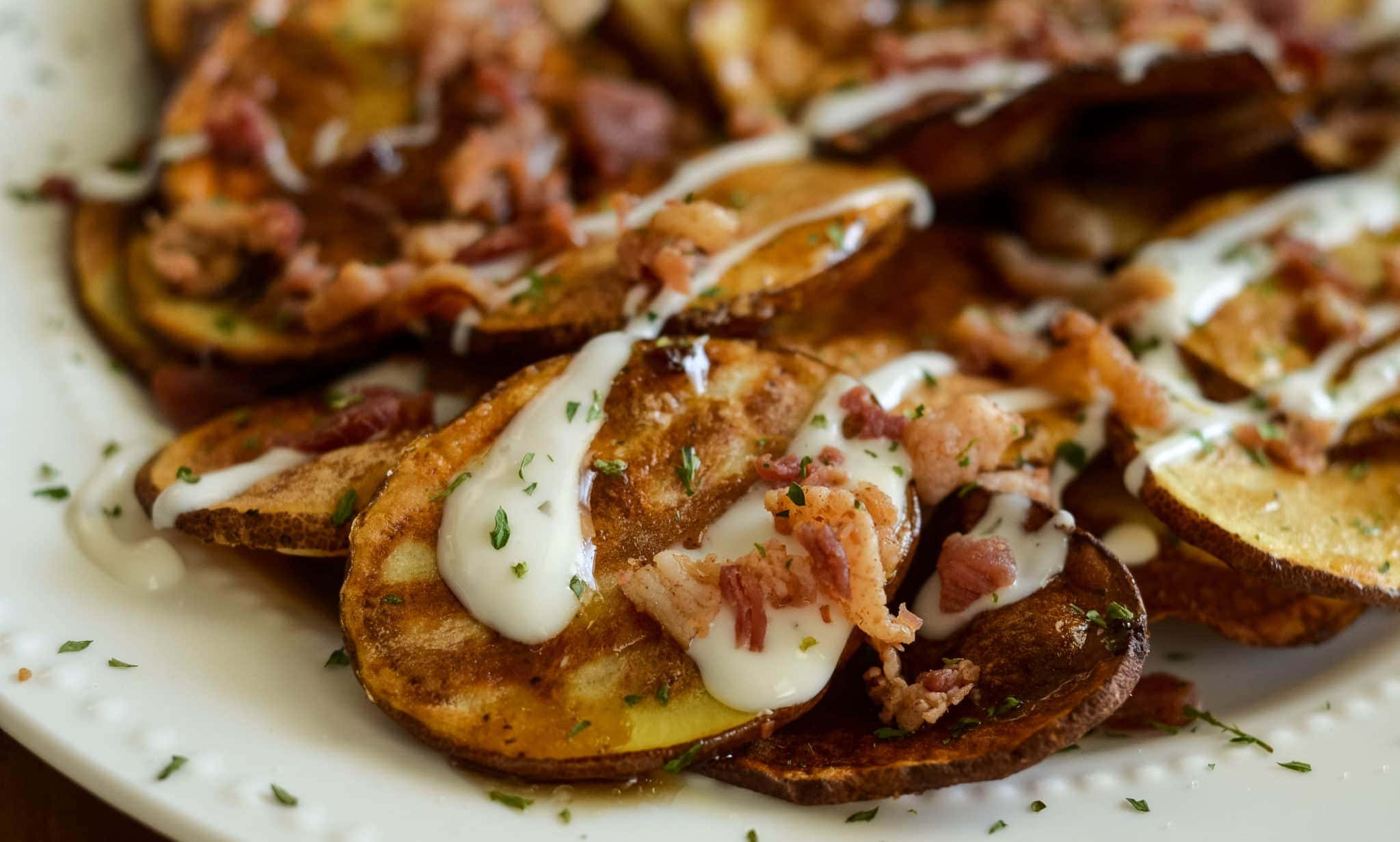 air fryer loaded potato chips