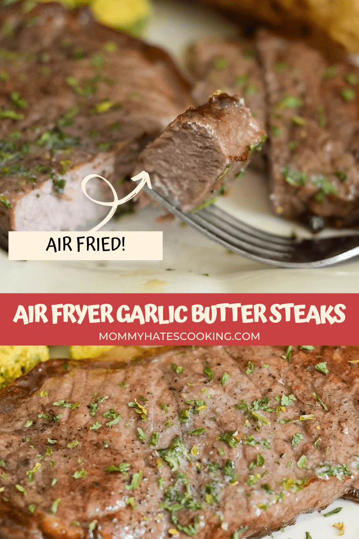 air fryer garlic butter steaks