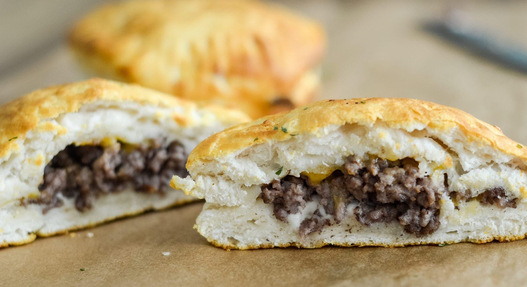 Air Fryer Cheeseburger Pockets