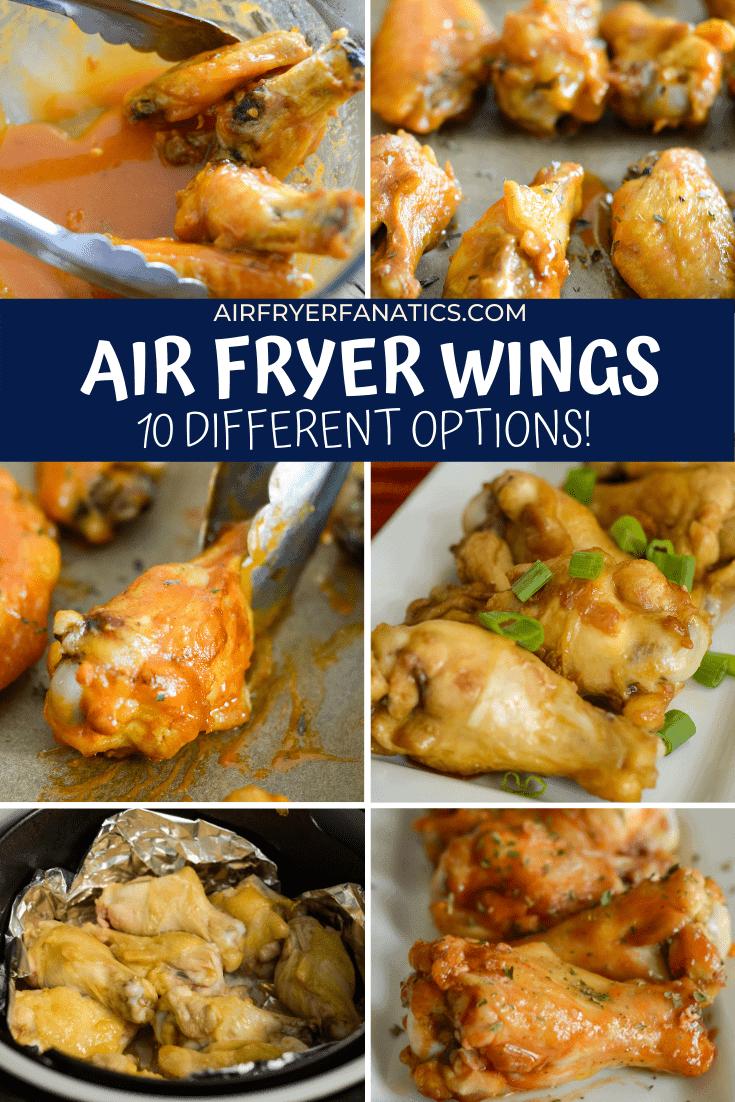 air fryer chicken wings - 10 ways