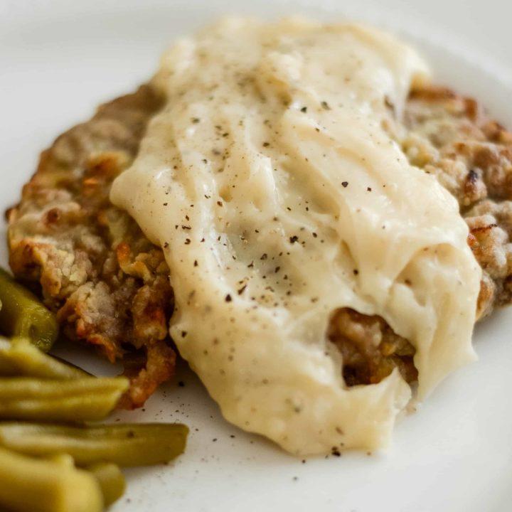 Air Fryer Chicken Fried Steak (Gluten-Free)