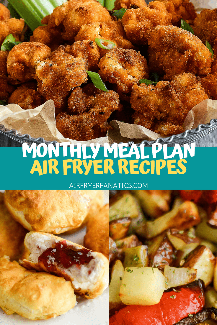 air fryer meal plan for may