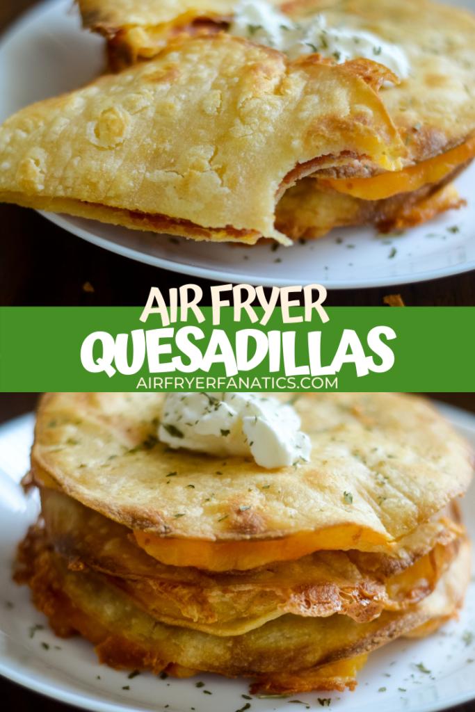 air fryer quesadillas