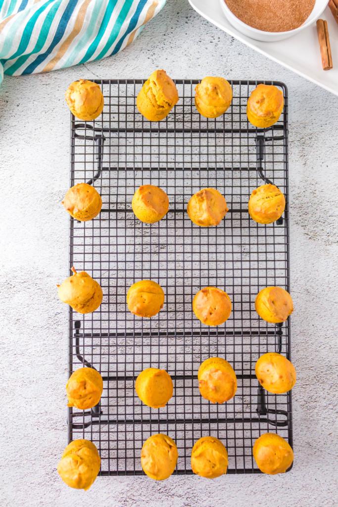 air fryer pumpkin doughnut holes